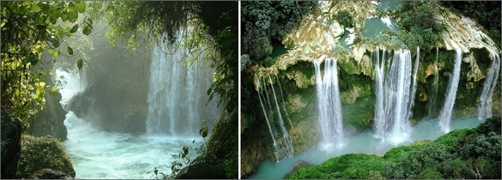 Waterfalls in Huasteca